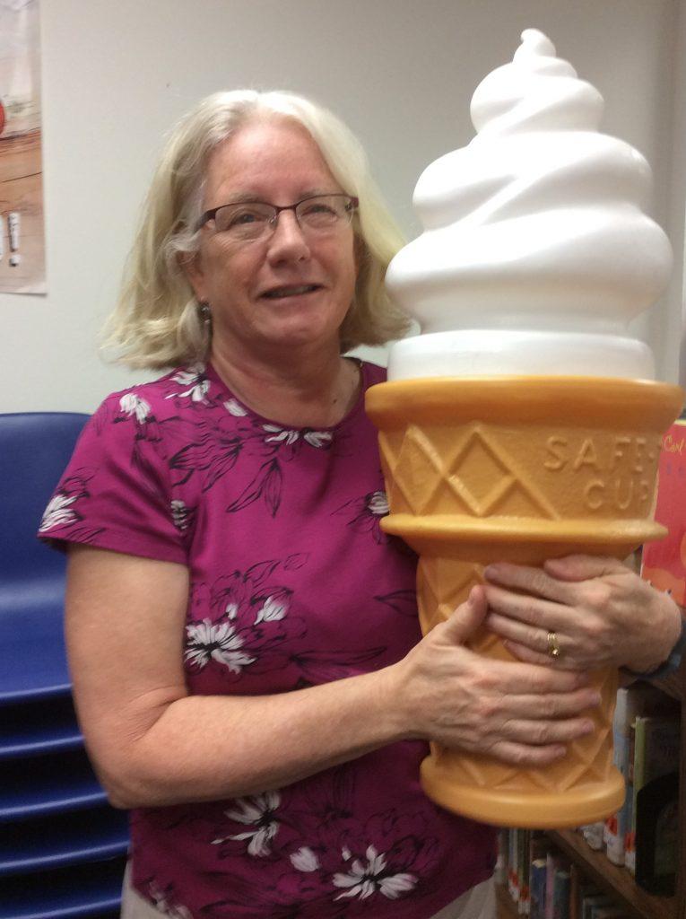Betty with ice cream cone